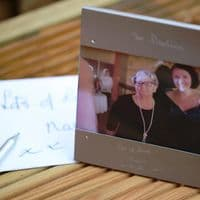 Silver Personlised Photo Frame   Own Handwriting Engraving   UK Delivery